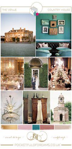 casa de campo de la boda, el Babington House, Diseño de la boda, el Estilo de la boda, boda del: Diseñador, estilista de la boda, planificador d ...
