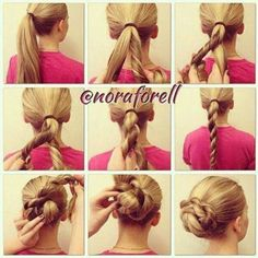 Quick & easy hair style