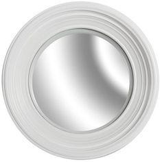 Okrągłe lustro Belldeco o szerokiej białej ramie.  Więcej na : www.lawendowykredens.pl