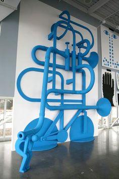 In The Mind installation by Geoff Mcfetridge. 2008, Seattle Art Museum Scuplture Park Pavilion.