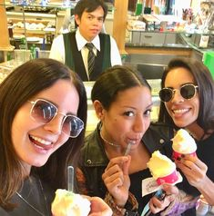 """""""Now it's time to eat soft ice cream."""" Lana Del Rey with her dancers, Alex and Ashley, in Italy #LDR"""