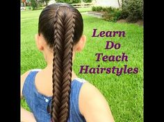 Twisted Edge Fishtail Braid, Hair Tutorial - YouTube
