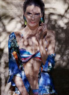 Glamouria in Fashion: Kendall Jenner shows off her body in bikini swimsuit shoot for Flavor magazine