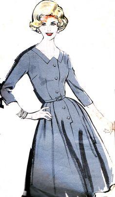 1960s Dress Pattern Advance 9899 Full Skirt by paneenjerez on Etsy, $16.00