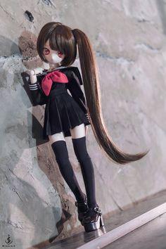 Kawaii Doll, Anime Dolls, New Dolls, Cute Crafts, Cute Dolls, Ball Jointed Dolls, Art Tips, Fashion Dolls, Punk