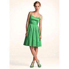 F14138 David'S Bridal Plus Size Green Tea Dress 20