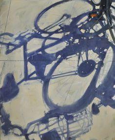 "Duane Keiser; Oil, 2013, Painting ""Bike Shadows"""