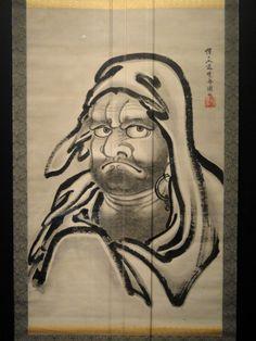 UKIYO - E.....BODHIDHARMA.....BY KAWANABE KYOSAI.......BING IMAGES............