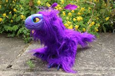 Purple Raptor Dragon Art Doll for sale by Creature-Cave on DeviantArt