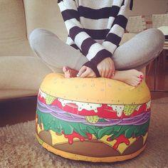(7) Fancy - Mini Burger Bean Bag by Woouf
