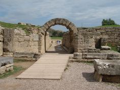 Entrance to old ancient Olympic stadium - Athens, Greece