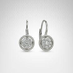 Diamond Fashion Earrings in 14K White Gold (1/3 carat t.w.)