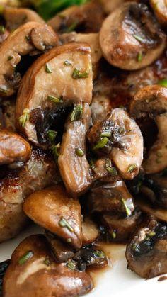 Rosemary Mushrooms.