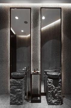 Contemporary Bathroom Design - Interior Decor and Designing Contemporary Bathroom Designs, Bathroom Design Luxury, Bathroom Spa, Bathroom Toilets, Concrete Bathroom, Washroom, Bathroom Faucets, Bathroom Ideas, Bathroom Showers
