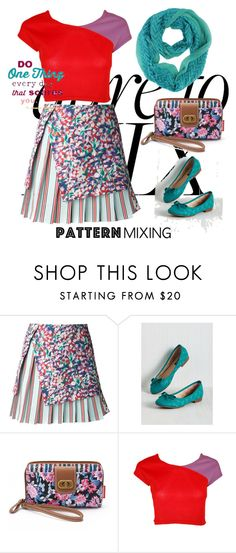 """One Thing That Scares You: Pattern Mixing"" by vlmhark ❤ liked on Polyvore featuring SUNO New York, UNIONBAY and patternmixing"