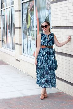 The perfect daytime look for the summer feat. this amazing palm print maxi dress