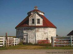 Old Unusual Barn...in Indiana.