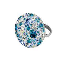 Ring in 925 Sterling Silber rhodiniert mit Kristallsteinen Größe Ø ca. 25 mm  Handarbeit!  Passenden weiteren Schmuck findet ihr im Shop