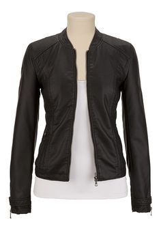 Faux Leather Jacket available at #Maurices if anyone needs a Xmas idea.... Hint hint