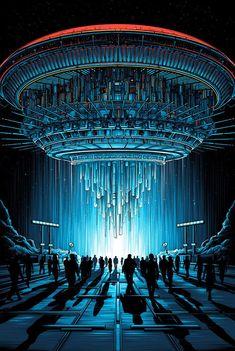 Close Encounters of the Third Kind Dir. Steven Spielberg Close Encounters of the Third Kind Dir. Fiction Movies, Science Fiction Art, Sci Fi Movies, Aliens And Ufos, Ancient Aliens, Nave Enterprise, Dan Mumford, Denis Villeneuve, Les Reptiles