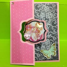 Mothers Day Card made using Kaisercraft All That Glitters collection and Sizzix Royal Flip-it dies  Made by Greeting Grub Cards