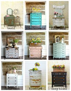 These beautiful dressers were painted by Sausha of Sweet Pickins Milk Paint . These beautiful dressers were painted by Sausha of Sweet Pickins Milk Paint . Stripping Furniture, Chalk Paint Furniture, Diy Furniture Projects, Repurposed Furniture, Furniture Makeover, Restoring Furniture, Wood Furniture, Dresser Inspiration, Furniture Inspiration