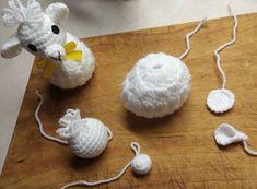 Krásné bydlení: Ovečka - háčkovaný obal na vajíčko (podle Drahušky) Diy, Tricot, Picasa, Amigurumi, Bricolage, Do It Yourself, Homemade, Diys, Crafting