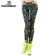 8a942453a1cb7d NADANBAO wholelsales New Fashion Women leggings 3D Printed color legins Ray  fluorescence leggins pant legging for