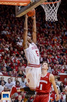 Troy Williams at IU's win over No. 3 Wisconsin Way to Go Troy! #IUCollegeBasketball