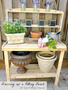 i don t want my potting bench to get dirty is that bad, gardening