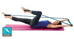 Pilates-style workout with easy to use bar. This core workout will help trim your tummy and make sure you have a happy back.
