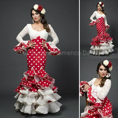 Flamenco Party, Flamenco Costume, Flamenco Dresses, Spanish Dress, Spanish Style, Cute Dresses, Beautiful Dresses, Lace Dress Styles, Folk Fashion