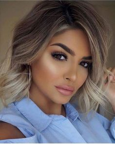 Cute hair colors for short hair hairstyles в 2019 г. hair, b Medium Hair Styles, Curly Hair Styles, Cute Hair Colors, Cute Hairstyles For Short Hair, Bob Hairstyle, Ombre Hair Color, Balayage Hair, Hair Looks, Hair Trends