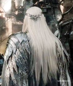 The armour details, the battle crown and the hair!!! Thranduil's amazing back appreciation post
