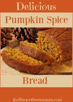 This gluten free pumpkin bread recipe is soft, sweet and super satisfying. The fluffy texture melts in your mouth and has a rich nutty and pumpkin flavor Spice Cake Recipes, Pumpkin Recipes, Baking Recipes, Dessert Recipes, Bread Recipes, Scd Recipes, Fast Recipes, Diabetic Recipes, Healthy Recipes