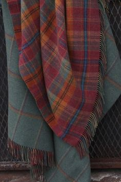 Tartan Blankets via London Trading Company Tartan Plaid, Tartan Throws, Plaid Scarf, Harris Tweed, Textiles, Stewart Tartan, Scottish Tartans, My Favorite Color, Gingham
