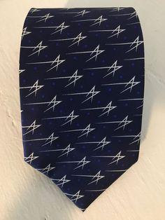 363ca69c26 Lockheed Martin Navy Blue Logo Mens Tie 100% Silk Handmade Rare | eBay
