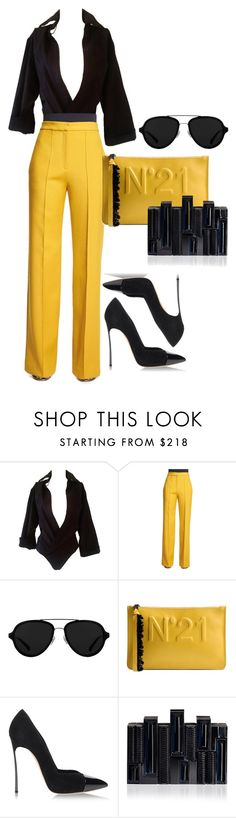 """No. 21"" by operationvogue ❤ liked on Polyvore featuring Dsquared2, ADAM, 3.1 Phillip Lim, N°21, Casadei and Rauwolf"