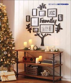 You don't have to turn the entire house red and green to bring holiday cheer into your home. An elegant tree with soft, twinkling lights and carefully arranged Luminara(TM) candles add a festive flare to your everyday décor. Sometimes traditional, timeless and simple is the way to go when it comes to holiday decorating.