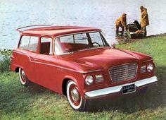 Red Studebaker Lark 2-dr Wagon