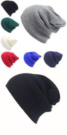 9f7b77f8fd5 Solid knitted cap men s women beanie knit ski cap hip-hop winter warm  unisex wool