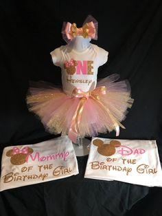 Minnie Mouse First Birthday Tutu Set/Shirt/Tutu/Hairbow