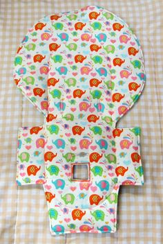 Evenflo high chair pad, highchair cover,chair replacement pad, baby accessory, child care, kids and baby, kids feeding chair pad, elephants by sewingsilly on Etsy
