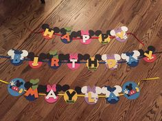 Mickey mouse clubhouse birthday banner by sparklepaperscissors