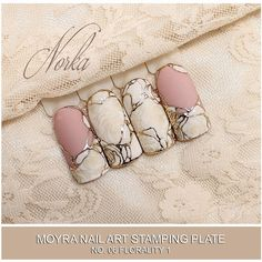"""258 Likes, 2 Comments - Moyra Nail Polish and Stamping (@moyra_nailpolish_and_stamping) on Instagram: """"Nail art with Moyra Stamping Plate No.06 Florality, Moyra SuperShine Colour Gel No. 540 Caffe…"""""""