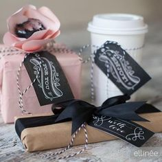 Chalkboard Gift Tags {free printable}