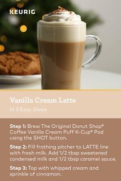 Keurig Recipes, Coffee Drink Recipes, Coffee Drinks, Smoothie Recipes, Smoothies, Cafe Latte Recipe, Cappuccino Recipe, Coffee Snobs, Coffee Latte