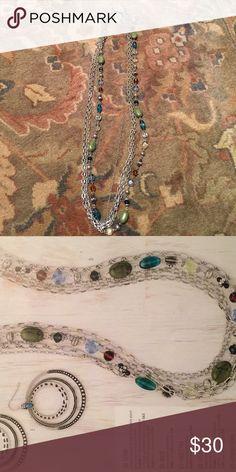 "Premier Designs - Costa Rica necklace Five strand 32"" necklace. Gently used Premier Designs Jewelry Necklaces"