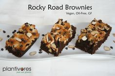Everything you want in a Rocky Road Brownie except the dairy, oil or gluten. Muchas deliciousness!