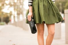 Holiday Stripes :: Silk taffeta skirt